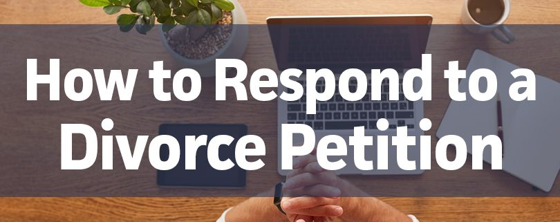how to respond to a divorce petition