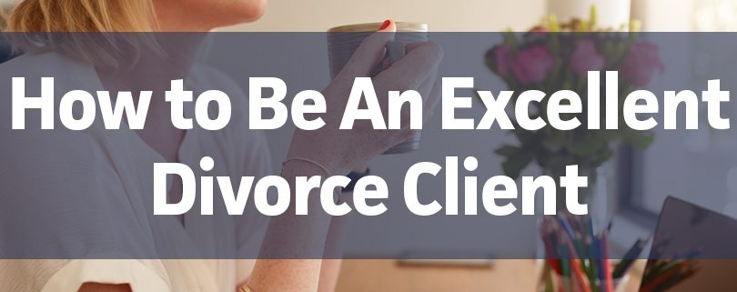 how to be an excellent divorce client