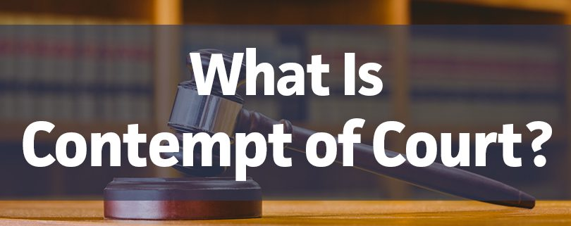 what is contempt of court