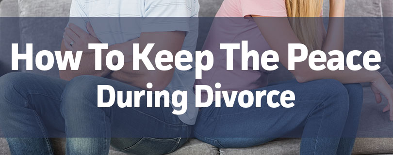 How have peace during divorce